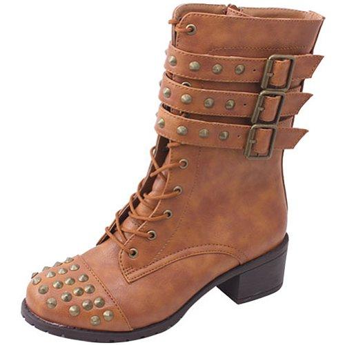 Støtfanger Kvinners Teka17 Studded Bekjempe Støvler