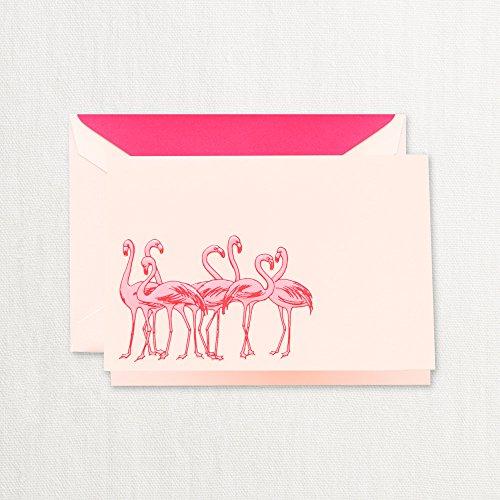 Pink Flamingo Note (Crane Engraved Flamingos Note, Pink Mist (CF1702))