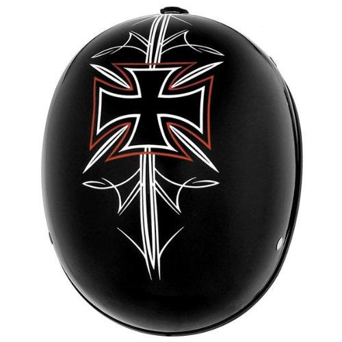 (Skid Lid Original Black Street Rod Half Helmet M)