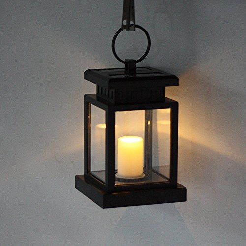 solar powered decorative lanterns fami outdoor vintage solar powered black hanging lantern 5594