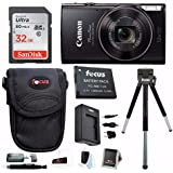 Canon PowerShot ELPH 360 HS Digital Camera with SD Card and Battery Pack Bundle