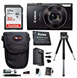Canon PowerShot ELPH 360 HS Digital Camera w/ 32GB SD Card & Battery Pack Bundle