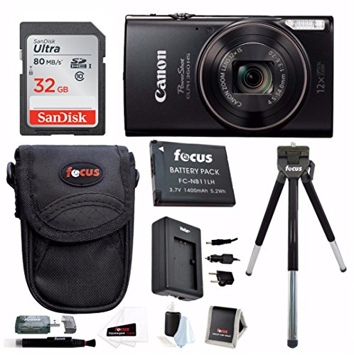 Canon PowerShot ELPH 360 HS Digital Camera w/ 32GB SD Card & Battery Pack Bundle by Canon