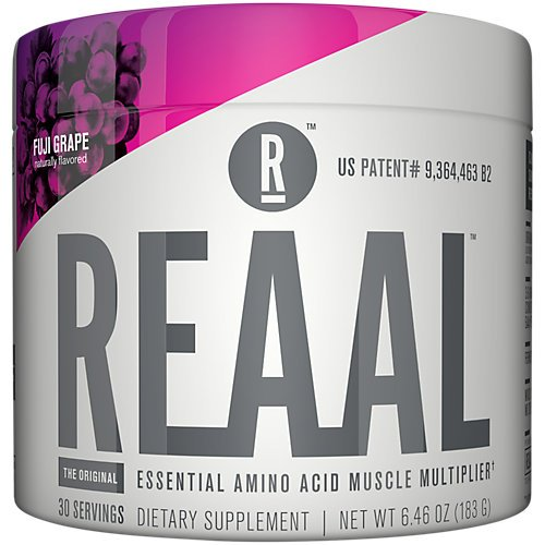 REAAL - REAAL Fuji Grape Powder, Helps Build, Restore, and Maintain Lean Muscle with Essential Amino Acids, Gluten Free, Bloat Free, Lactose Free, Caffeine Free, Vegan, 30 Servings (6.77 Oz)