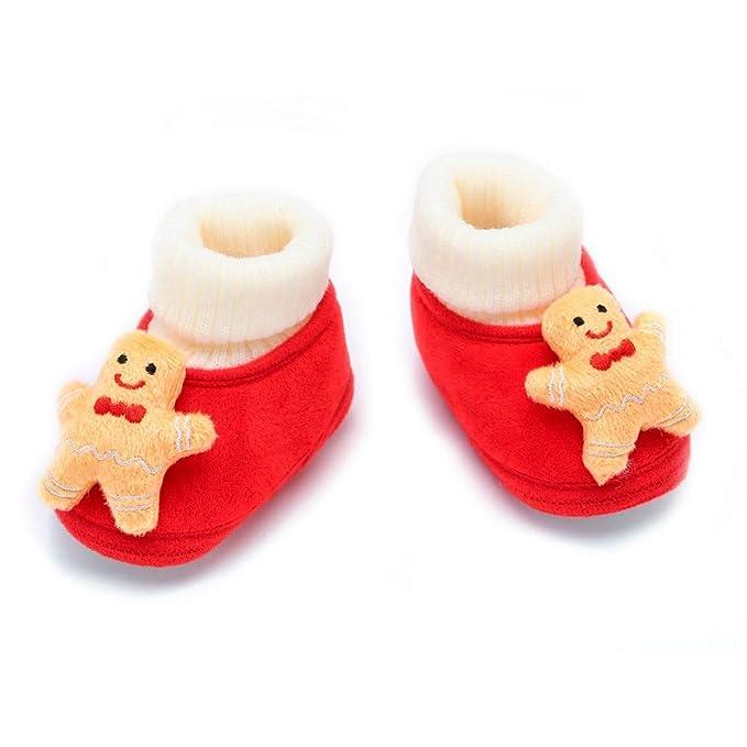 Bebe Navidad Calcetines Zapatos Algodón Invierno ...