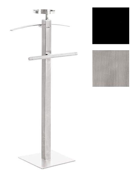 Valet de chambre FABIO valet de nuit porte vêtement laqué blanc IDIMEX
