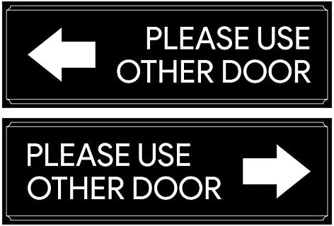 Please Use Other Door Right Arrow Decal Sign Business Vinyl Window Decal