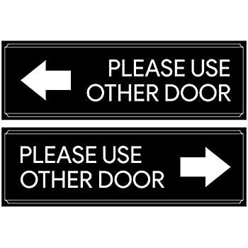 amazon com please use other door right arrow 9 x 6 metal sign