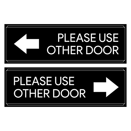 Please Use Other Door Sticker Decal Set - Self Adhesive, Peel-Off, For Offices, Stores, Businesses from Sutter Signs
