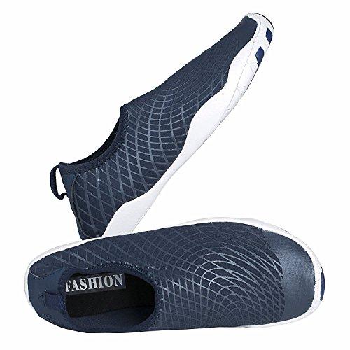 Youweb Water Shoes schnell trocken Aqua Wasser Schuhe Beach Walking Swming Yoga Übung Blau02