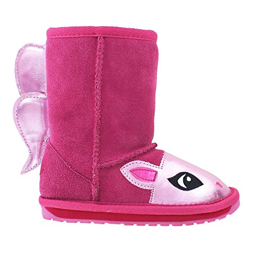 Emu Australia Pony Boot - Kid's Hot Pink 4