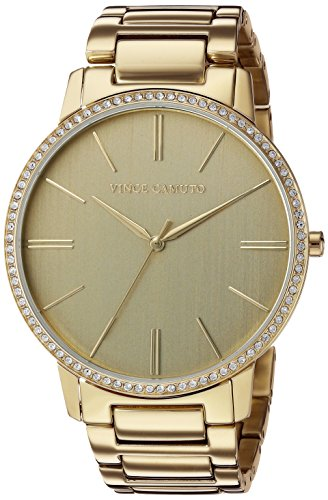 Vince Camuto Women's VC/5328CHGB Swarovski Crystal Accented Gold-Tone Bracelet Watch