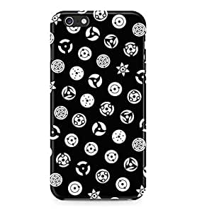Naruto All Eye Modes Black Hard Plastic Snap-On Case Skin Cover For iPhone 6 Plus / iPhone 6s Plus