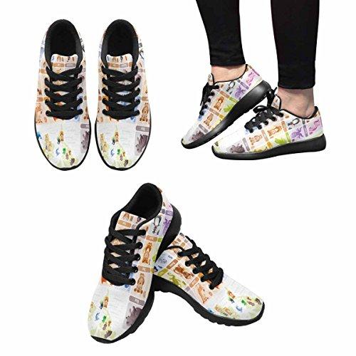 Interesse Per Le Donne Jogging Corsa Sneaker Leggero Andare Facile A Piedi Comfort Sport Scarpe Da Corsa Cute Baby Abc Animali Selvatici Alphabeth Multi 1