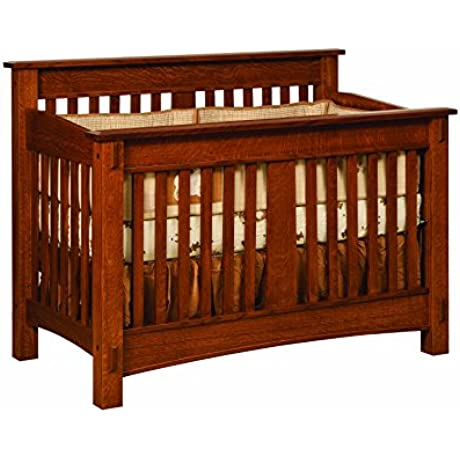 Amish Heirlooms McCoy Solid Maple Crib 33 By 57 By 45 Puritan Gray