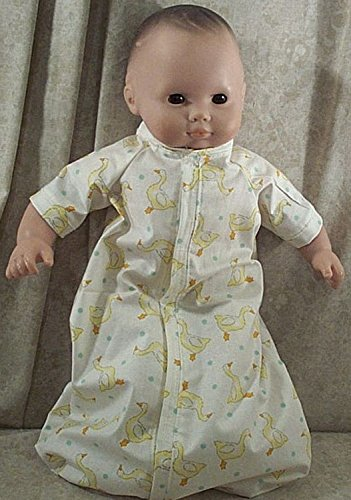 Doll Clothes Baby Made 2 Fit American Girl 15' in Boy Sleeper Sack Ducks Yellow