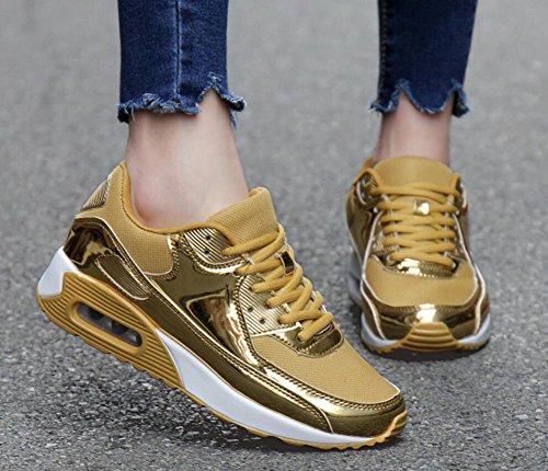 Zapatos Malla Oro Zapatillas Surface Zapatos Amantes de New Mujeres Air Deportivos Bright Cushion Amortiguación Viaje Zapatos Size EU Primavera Hombres Casuales Otoño de pIqBwPnZxq