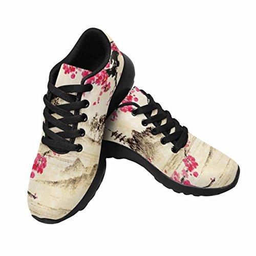 Interesse Per Le Donne Da Jogging Corsa Sneaker Leggero Go Easy Walking Comfort Sport Scarpe Da Corsa Paesaggio Con Rami Sakura, Lago E Colline Multi 1