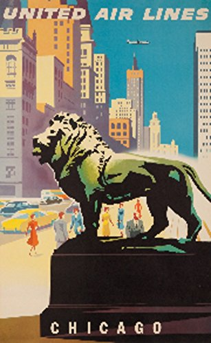 united-airlines-chicago-vintage-poster-artist-binder-usa-c-1948-16x24-collectible-giclee-gallery-pri