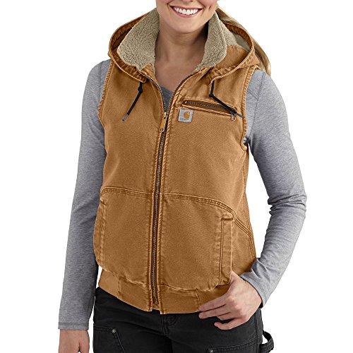 Duck Vest Carhartt (Carhartt Women's Weathered Duck Wildwood Vest, Brown, Medium)