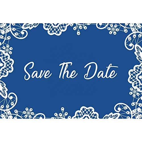 Blue Lace Wedding Save The Date Postcards - 6in. X 4in. (50) ()