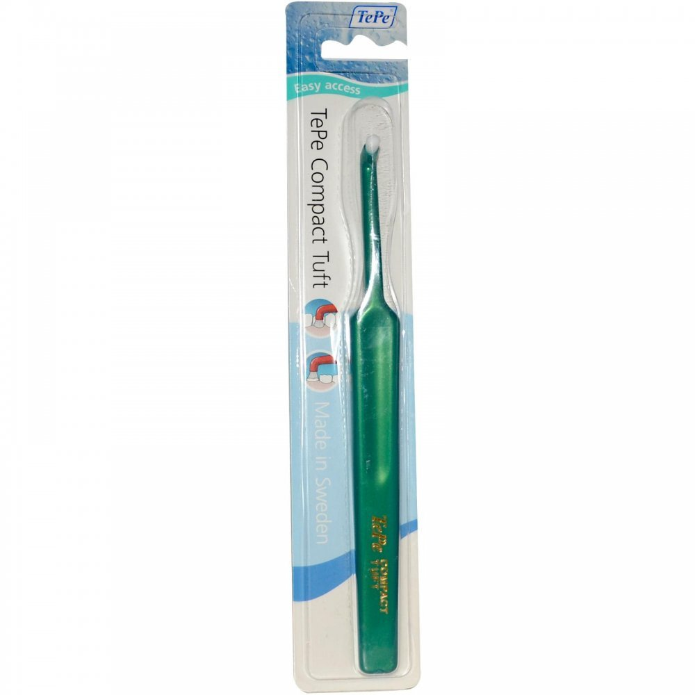 Amazon.com: Compact Tuft Brush (12 Per Box) by Tepe Oral Health Care: Health & Personal Care