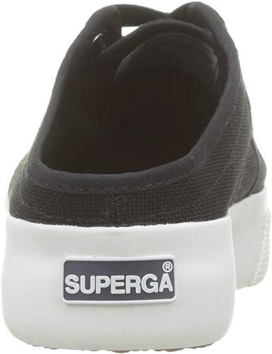 Black 6 UK Black-fwhite F83 39.5 EU Superga Womens 2397-cotw Platform Sandals