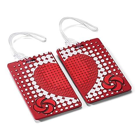Samsonite Designer Luggage Id Tags (Pair), True Love - En Route Luggage Tag