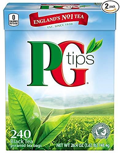 Black Tea, Pyramid Tea Bags, 240-Count Box (Pack of 2) (Premium pack) by PG Tips.