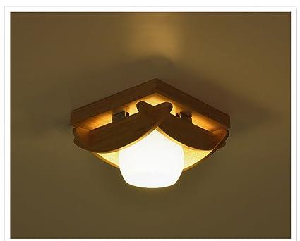ZHDC® Lámparas de techo de madera maciza, al estilo japonés ...