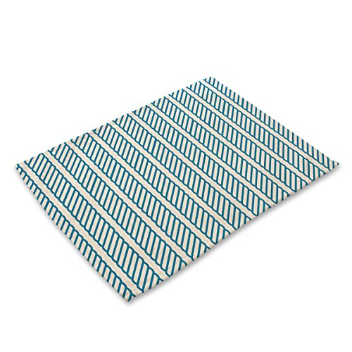 Slash Slip (FDY MY Geometric Slash Rope Pattern Placemats Table Mats Print Non-slip Heat Insulation Place Mat for Dining Table)