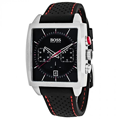 HUGO BOSS BLACK 1513356 Mens Rectangular Chronograph Watch w/ Date