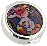 Stratton Pill Box Ladies Heritage Collection Travel Pill Case Plus Tongues (Exotic Bird) by Stratton