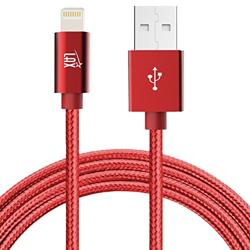 (iPhone Charger Lightning Cable - [MFi Certified] Durable Braided Apple Lightning USB Cord for latest iOS including iPhone X/8/8Plus/ 7/7Plus/IPad Pro)