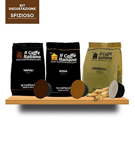 96 Cápsulas de Café compatibles Dolce Gusto - kit degustación de 96 cápsulas café Sfizioso compatibles con máquinas Dolce Gusto - Il Caffè Italiano ...