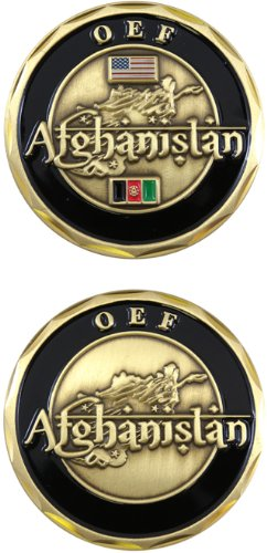 United States Military US Armed Forces Operation Enduring Freedom OEF Afghanistan - Good Luck Double Sided Collectible Challenge Pewter (Forces Operations)