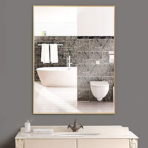 ZZKJBox Rectangular Bathroom Mirror,Wall Mirror with Metal Frame, Art Deco Mirror, Vanity -