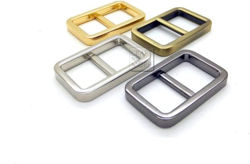 1 Inch, Silver CRAFTMEmore Movable Bar Slide Strap Adjuster Rectangle Strap Keeper Triglide Belt Keeper Purse Making 5//8 3//4 1 Pack of 10