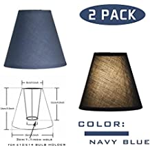 OYGROUP Solid Color Replacement Lampshade Simple Fashion Shade Creative Simple Table Lamp Shade (Pack of 2) 8x14x16cm Dark Blue