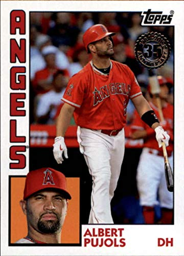 (2019 Topps Series 1 Baseball 35th Anniversary 1984 '84#T84-70 Albert Pujols Los Angeles Angels)
