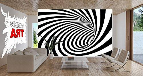 fototapete 3d tunnel schwarz-weiß wand-dekoration - wandbild ... - Fototapete Wohnzimmer Schwarz Weiss