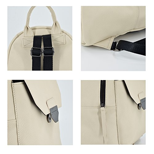 5053aa0049 ESA Fashion Backpacks Purse for Women Medium PU Leather School backpack  Travel Satchel