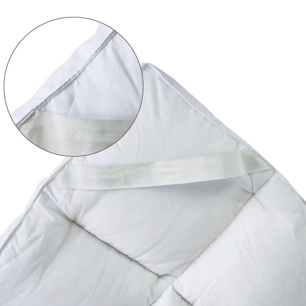 Bedecor Microfaser-Polyester-Matratzen-Auflage, Unterbett, Matratzen-Topper, üppig gefüllt, extra-weich, 180 180 180 x 200 cm 8b5869