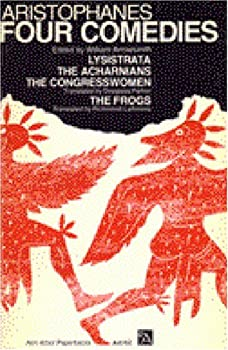 Four Comedies: Lysistrata/The Congresswomen/The Acharnians/The Frogs 0472061526 Book Cover