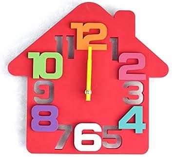Relojes de pared silencioso casa sveglio del cómic y creativo del reloj pared digital estéreo papel milimetrado (sin batería), 14 pulgadas: Amazon.es: Hogar