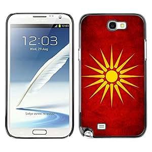 Be Good Phone Accessory // Dura Cáscara cubierta Protectora Caso Carcasa Funda de Protección para Samsung Note 2 N7100 // National Flag Nation Country Macedonia