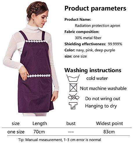 Radiazioni Gravidanza Abbigliamento Da In Donna Premaman Moda Per Incinta Navy Cotone Anti Tasche Unita Elegante Con Tinta Abito La Gonna Rigonfiamento Giovane 4XxXSqHrw