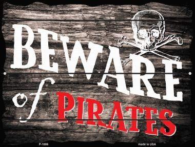 (Pride Plates Pirates Cove Parking Sign P-1808)