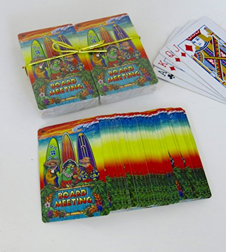 Shopitivity LLC Surf board souvenir playing cards, vacation gift. card faces feature Multiple Landmarks, Oustsanding Tourist Gift. The Two Deck Set Includes a gold gift ribbon. 4 by Shopitivity LLC