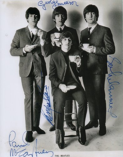 The Beatles Autographs - The Beatles early band signed reprint 11x14 poster photo #3